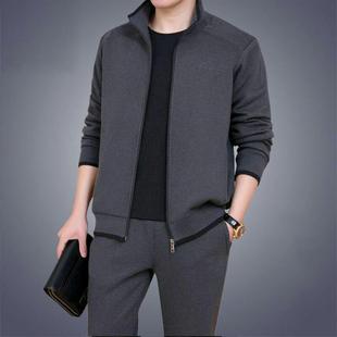 2019新款韩版男士套装秋季商务休闲运动套两件套装潮流跑步三件套