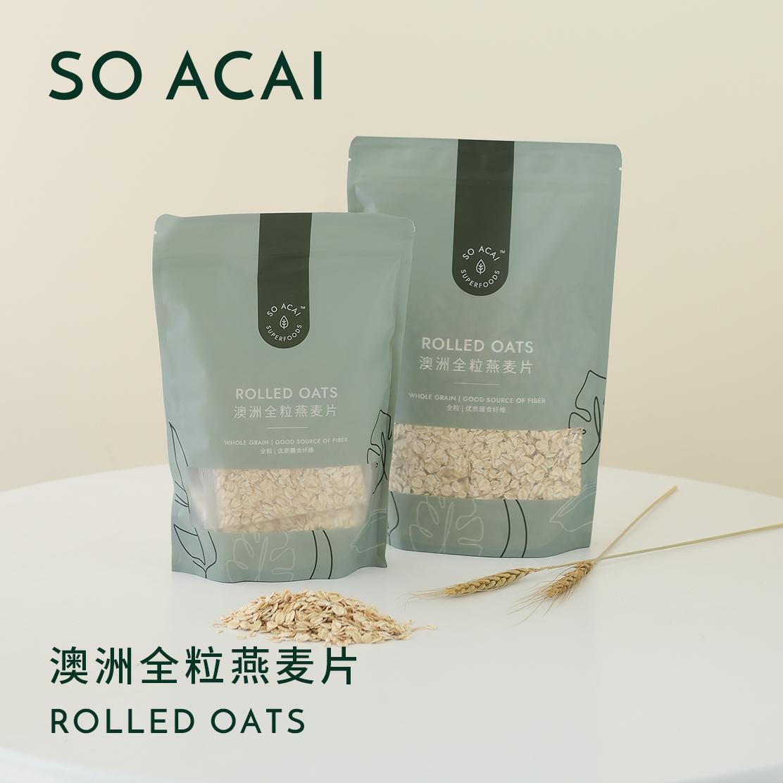 soacai燕麦片早餐冲饮老式纯麦...
