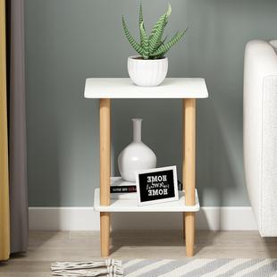 沙发小边几迷你北欧实木床头桌简约现代创意茶几方几客厅沙发边柜