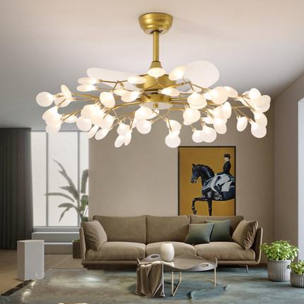 北欧风扇灯萤火虫吊灯客厅灯轻奢简约现代灯具电扇餐厅家用吊扇灯