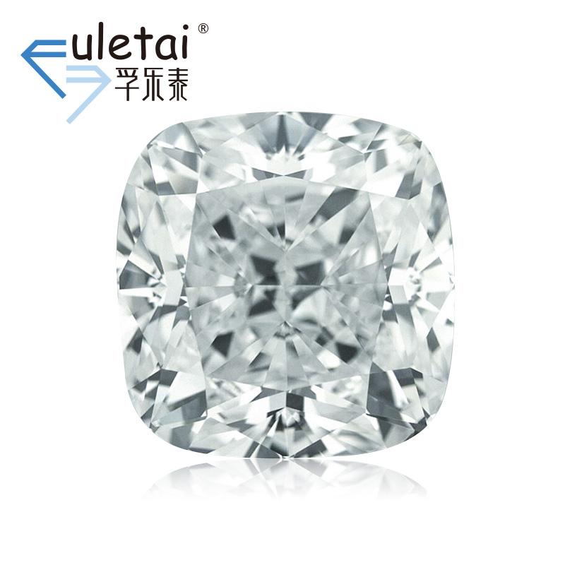 孚乐泰异型裸钻石定制1.57克拉VS2 D色垫形结婚钻戒定制gia