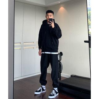 SANBAI 叁佰牛仔裤男新款束脚裤韩版百搭裤子长裤宽松小脚侃爷裤