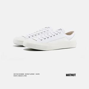 matnut artery白色低帮复古帆布鞋