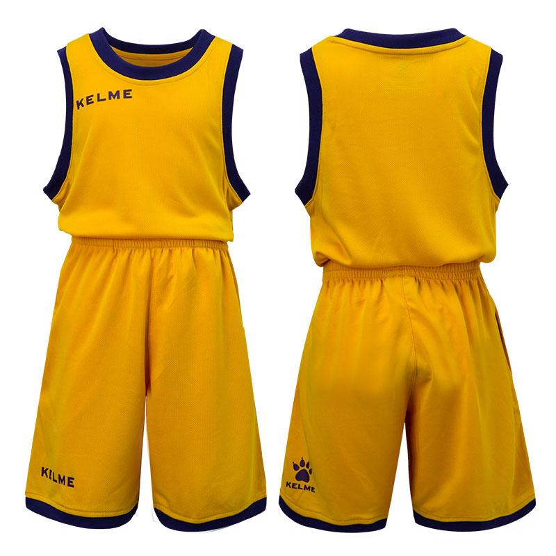 卡尔美篮球服套装男童儿童球衣训练背心男孩儿童球服儿童女bf风正品保证