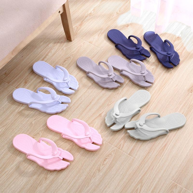 拖鞋出差旅行便携式折叠飞机酒店旅游男女洗澡浴室防滑超轻凉拖鞋