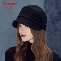 Kamon face hairy Fedora duck tongue beret autumn wool hat Female Winter Korean edition Inverness hundred Bud Hat