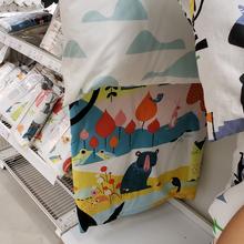 暖かく、居心地の良い家庭IKEA後期青キルトと枕カバーのキルト幼児の日をSilaiパーセル寝具セット送料無料