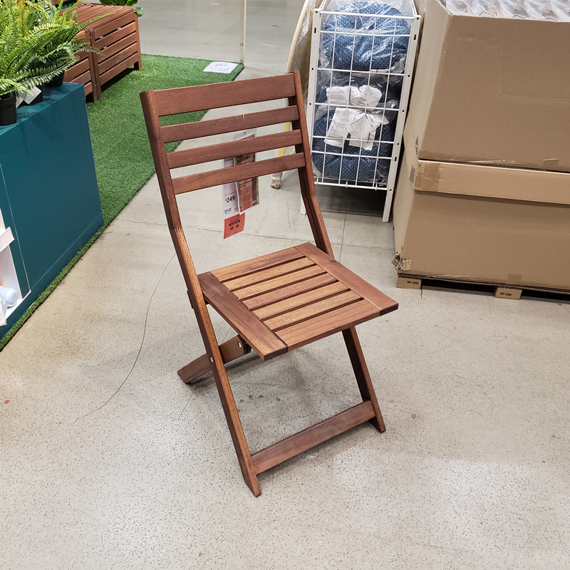 温馨宜家IKEA阿普莱诺椅子户外休闲庭院椅子凳子可折叠餐椅包邮