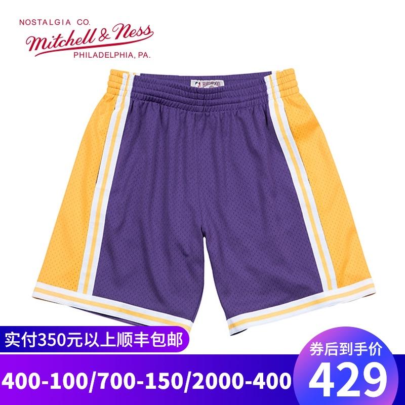 Mitchell&Ness湖人队1984年SW复古球裤MN宽松运动篮球短裤 BF风潮