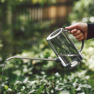 不锈钢长嘴塑料洒水壶家用浇花壶施肥壶淋花盆栽浇水神器园艺工具图片