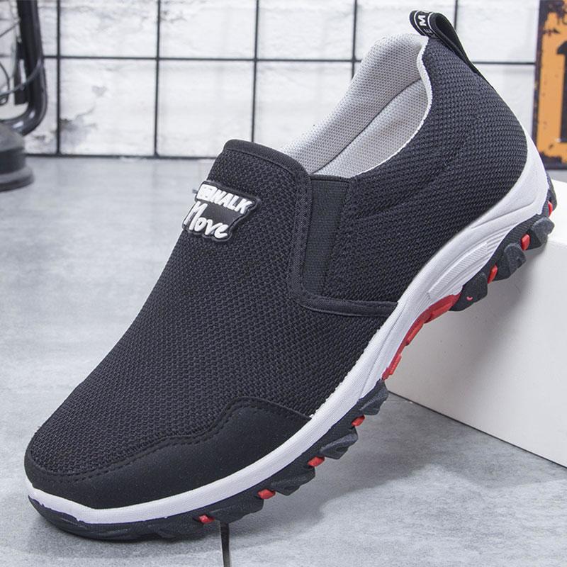 中年人鞋子 运动休闲开车透气鞋男 春秋爸爸款单鞋男士老北京布鞋