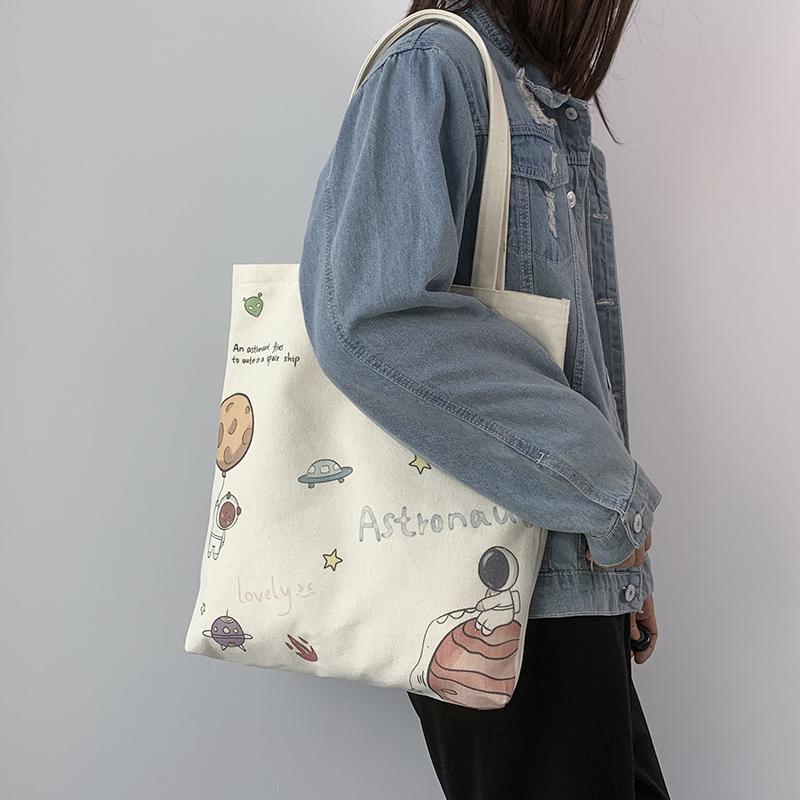 帆布包女夏文艺布袋包2021年新款...