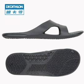 迪卡侬泳池拖鞋游泳男鞋女防滑软底旅游室外凉鞋NAB P图片