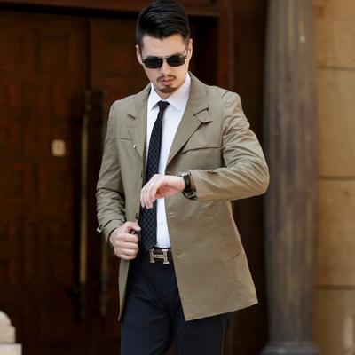 风衣男帅气2020春秋装新款男式夹克薄款男士休闲外套上衣中年男装