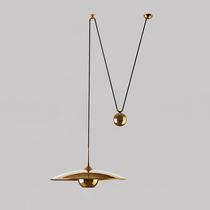 北欧后现代创意高度可调滑轮飞碟吊灯橱窗餐厅个性设计师样板房灯