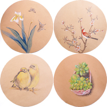 Quick text 25 thick round kraft paper painting sheet sketch color lead paper art painting special Paper jam