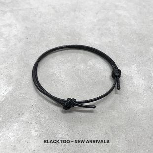 【买一送一 】BlackToo/幸运绳 本命年红绳许愿绳黑绳脚绳手绳