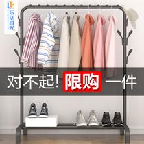 简易衣帽架晾衣架落地室内折叠挂衣架子家用卧室衣服收纳置物架柜