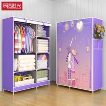 衣柜簡易布衣柜收納柜子家用臥室布藝掛衣櫥組裝出租房用現代簡約