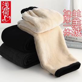 媽媽保暖棉褲春秋冬羊羔絨加厚中老年人女褲奶奶裝長褲子寬松外穿圖片
