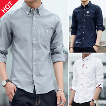 Men's shirts, long sleeves, men's Korean version of the trend of self-cultivation, handsome and velvety shirts, fashionable autumn men's fashion official website