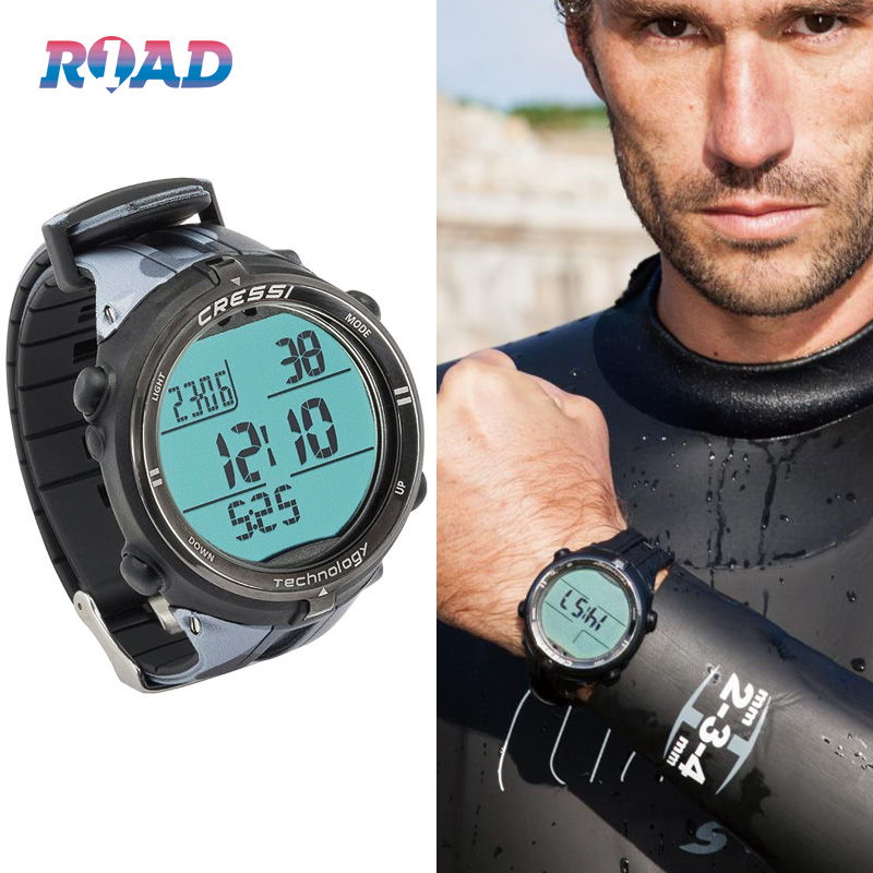Cressi Drake professional free diving computer watch dynamic static mode closed air screen competitive endurance