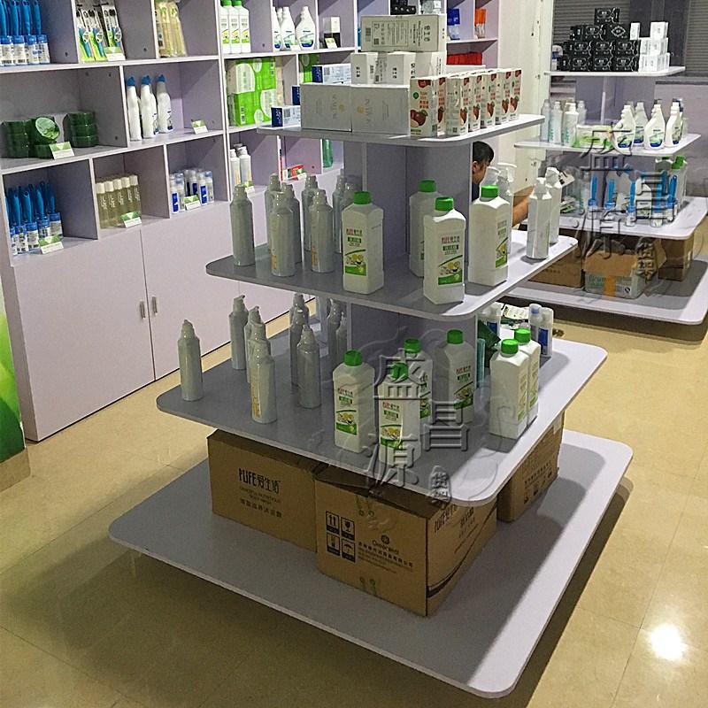 展柜超市货架文具店陈列柜货柜展架惠州中岛柜日化用品商店展示柜