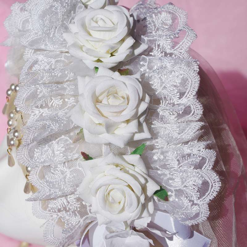 Fairy tale Lolita Shenghe aria headdress headdress flower bead chain bead curtain
