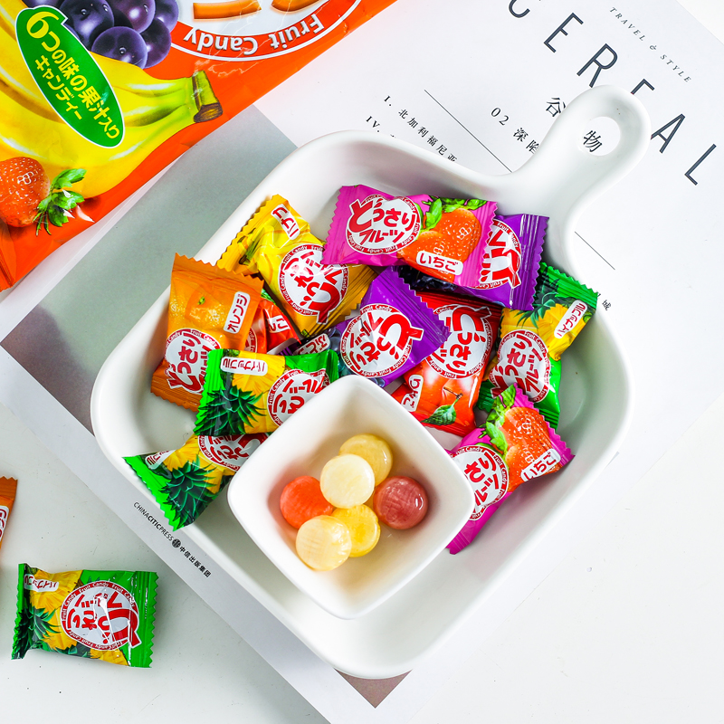 Malaysia imported fruit juice hard candy sea salt salty lemon candy childrens snack candy sour candy pregnant woman fruit candy