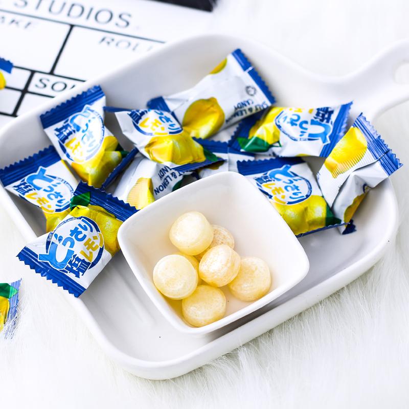 Malaysia imports salty LEMON SUGAR super acid like sugar hard sugar sea salt snack candy fruit sugar throat juice
