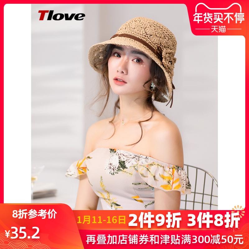 渔夫帽夏季草帽女士亲子新款日系短檐可折叠遮阳帽出游沙滩太阳帽