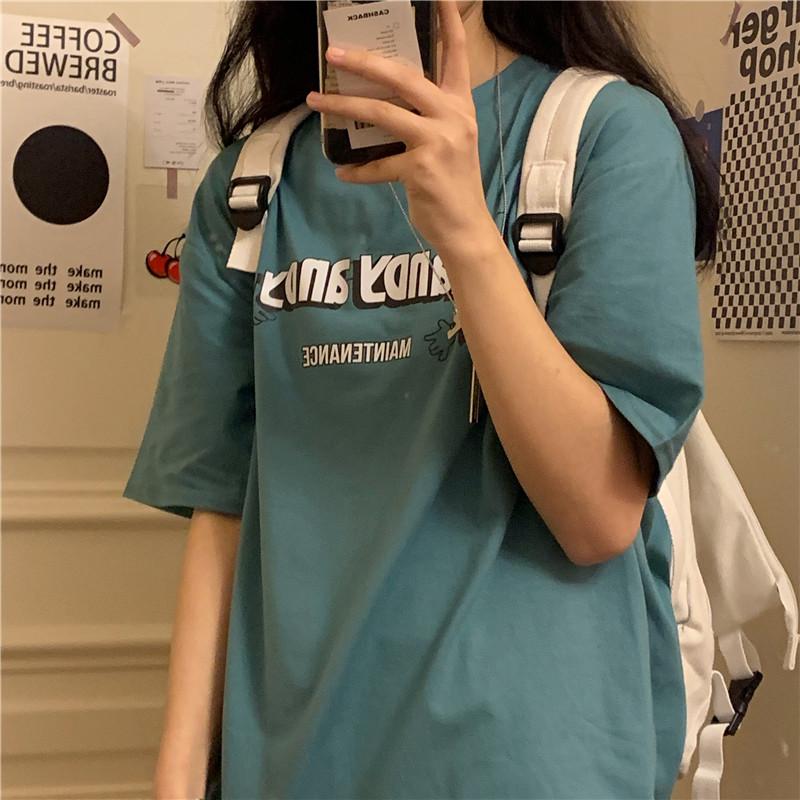 纯棉透气短袖女宽松情侣装卡通t恤好用吗