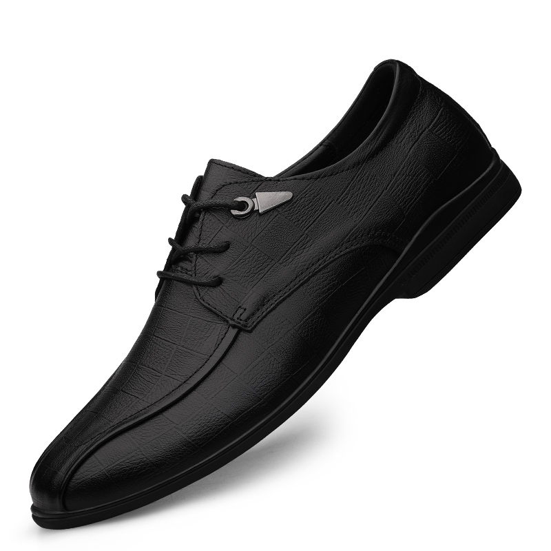 Mens business casual shoes leather breathable Oxford Shoes soft leather beans driving shoes mens dress shoes lace up wedding shoes