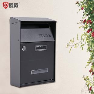 固盾信报箱邮箱室外欧式别墅户外挂墙带锁复古创意信箱意见箱新款