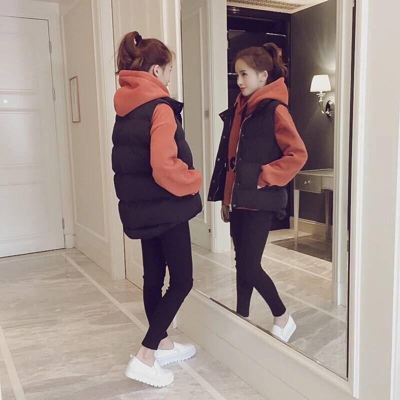 羽绒棉马甲女冬厚款短款韩版秋冬季背心2018新款女士马夹坎肩外套