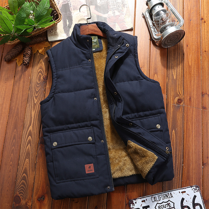 Down cotton vest for men in autumn and winter