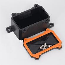 塑料防水接线盒小IP68户外分线连接器地埋水下密封过线盒塑料黑