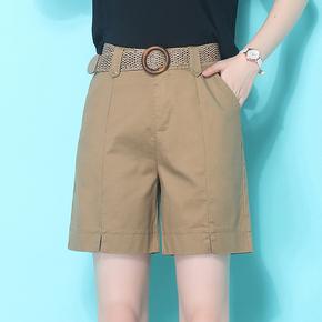 工装短裤女夏宽松2020夏季新款直筒裤薄款高腰显瘦休闲纯棉五分裤