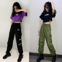 夏装2019新款御姐工装套装女潮嘻哈洋气时尚韩版学生春夏两件套装
