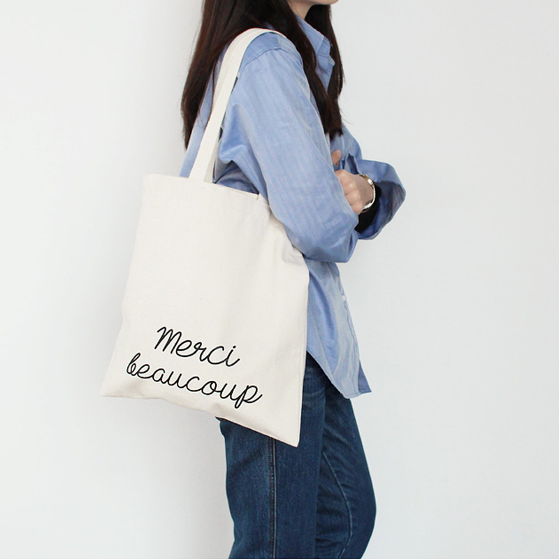 Canvas bag womens one shoulder Korean literature and art oblique cross Harajuku style student ins shopping bag simple and versatile small and fresh