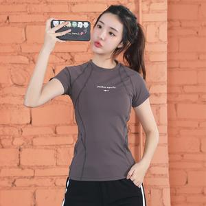 2021新款运动女短袖宽松健身服t恤
