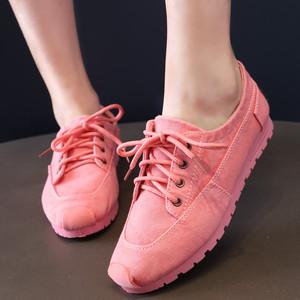 女款牛仔布帆布鞋春秋款老北京布鞋女单鞋休闲时尚低帮舒适女鞋潮