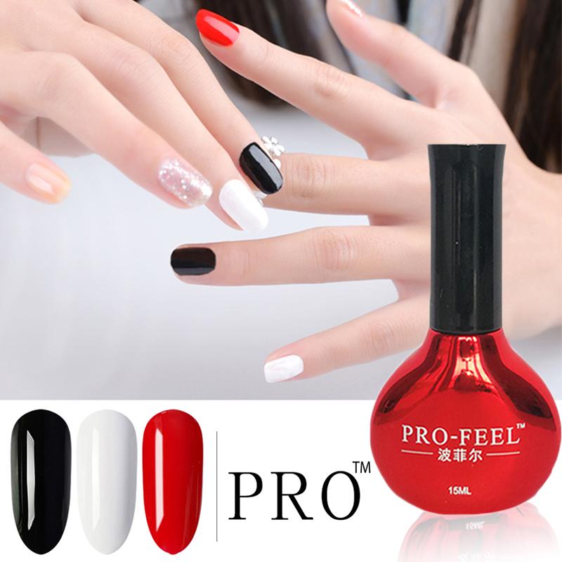 美甲新款正红色甲油胶纯黑色光疗胶纯白色指甲油胶持久显白防水胶