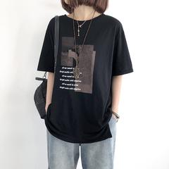 短袖t恤女2020夏宽松大码纯棉ins上衣中长款韩版长袖打底衫女装潮