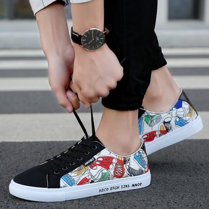 新品韩版潮流男士低帮潮帆布鞋