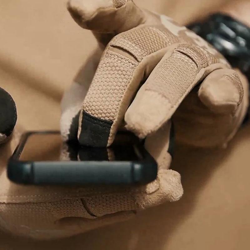 親指の中でスクリーンのhelikonハリケンに触れることができます。全指の手袋の男性が耐摩耗性の薄いタイプのアウトドアフィットネスの騎乗RNGを指します。