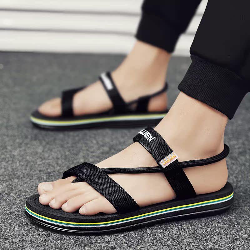 男士拖鞋夏季外穿沙滩开车运动两用凉鞋踩屎感休闲休闲人字拖男潮