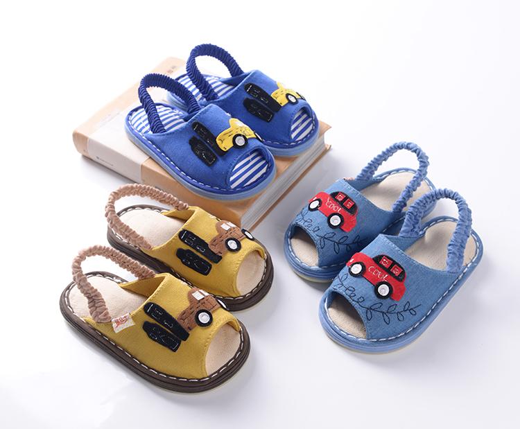 Ребенок шлепанцы ребенок комнатный этаж обувной домой обувной скольжение воздухопроницаемый ребенок обувной ребенок шлепанцы лето 1-3-7 лет