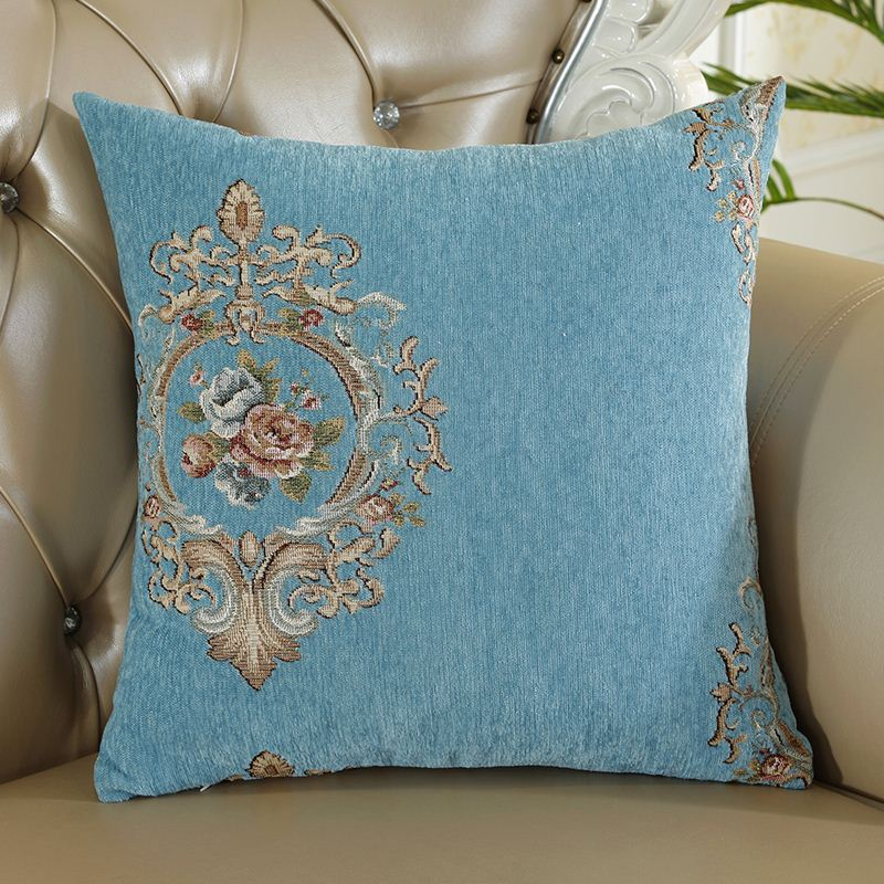抱枕小奢华客厅正方形抱枕套喜庆不含芯长方形家用欧式靠垫沙发