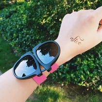 【买2送1】出游彩色时尚个性眼镜女手环折叠偏光太阳镜手腕墨镜